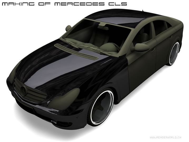 Renderworld Mercedes Benz 500 CLS
